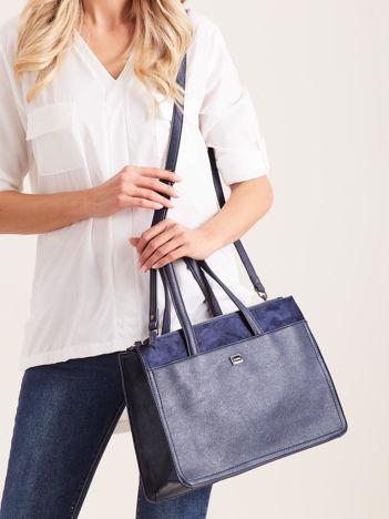 Niebieska damska torba na ramię