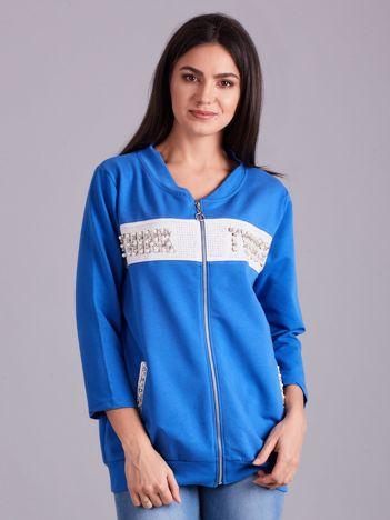 Niebieska dresowa bluza z aplikacją