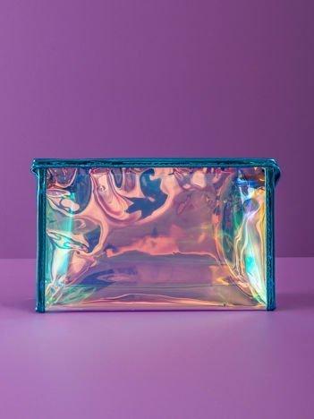 Niebieska holograficzna kosmetyczka