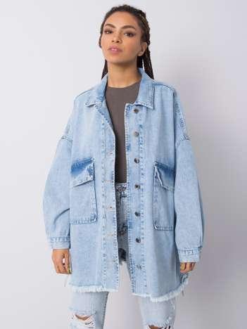 Niebieska koszula jeansowa Zora RUE PARIS