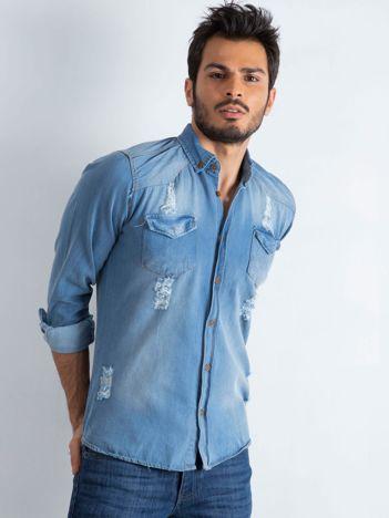 Niebieska koszula męska Jeanswear