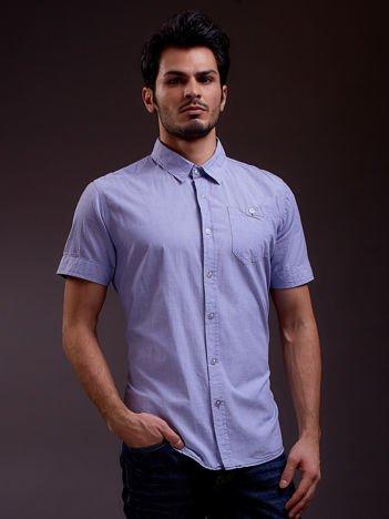 Niebieska koszula męska z krótkim rękawem FUNK N SOUL