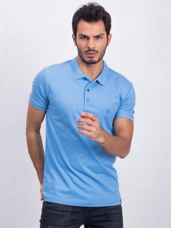 Niebieska koszulka polo Coastal