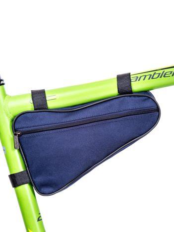 Niebieska materiałowa saszetka na rower