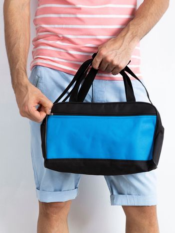 Niebieska męska torba na ramię