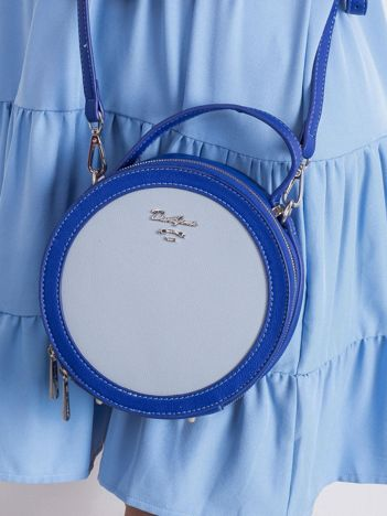 Niebieska okrągła torebka