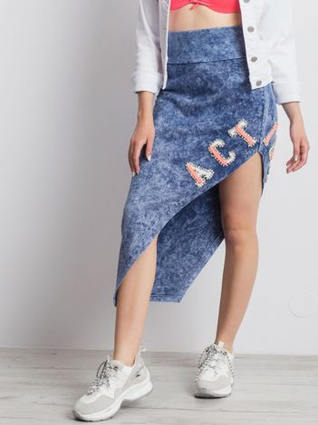Niebieska spódnica Ditsy