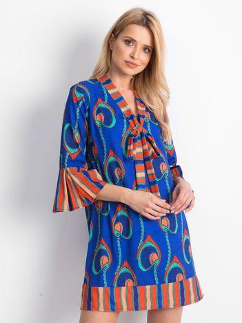 Niebieska sukienka Fixture