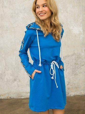 Niebieska sukienka Muse