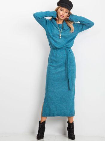 Niebieska sukienka Peace