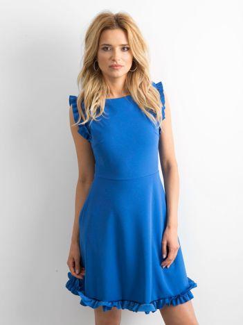 Niebieska sukienka Slowly