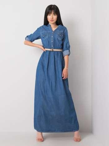 Niebieska sukienka na co dzień Bertha RUE PARIS