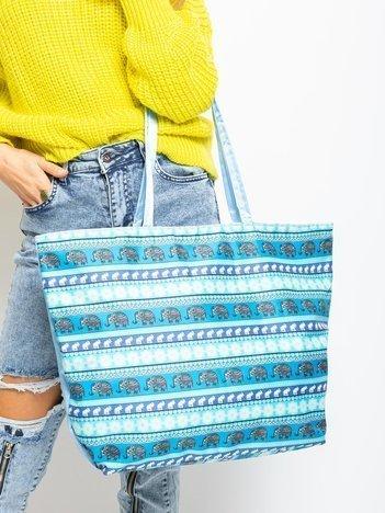 Niebieska torba shopper
