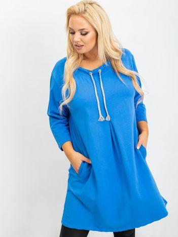 Niebieska tunika plus size Alexa