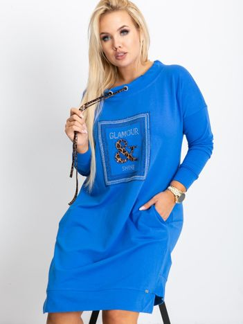Niebieska tunika plus size Shock