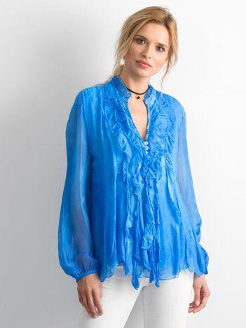 Niebieska zwiewna bluzka
