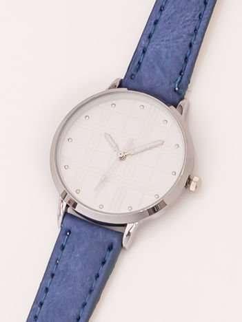 Niebieski Damski Zegarek Z Dżetami