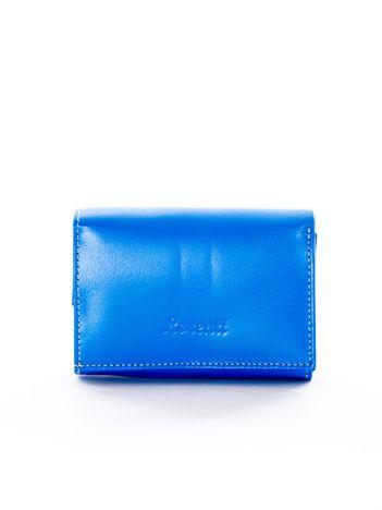 Niebieski damski portfel skórzany