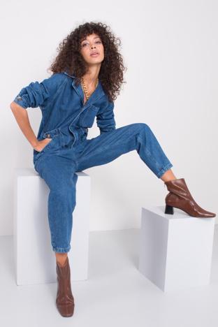 Niebieski kombinezon jeansowy BSL