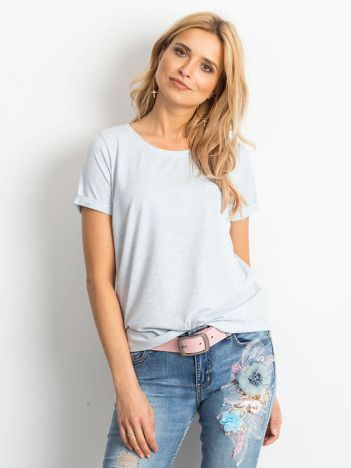 Niebieski melanżowy t-shirt Transformative