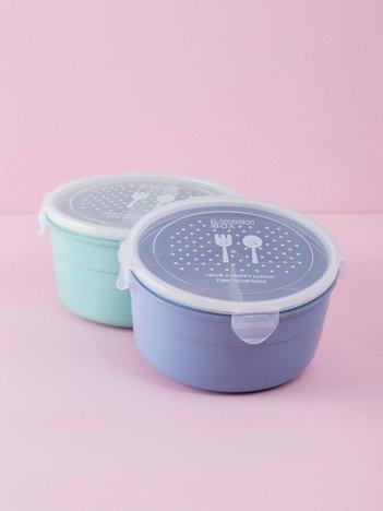 Niebieski okrągły pojemnik na żywność
