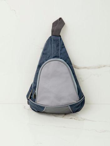 Niebieski plecak męski na jedno ramię