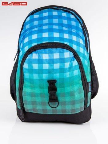 Niebieski plecak szkolny ombre