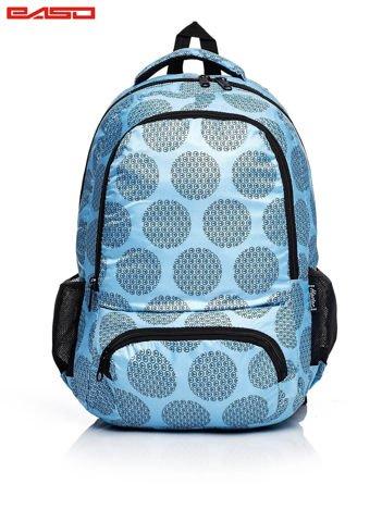 Niebieski plecak szkolny z graficznym motywem