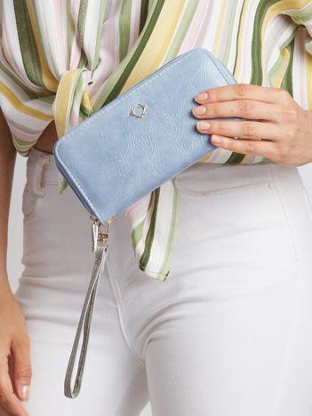 Niebieski portfel na suwak