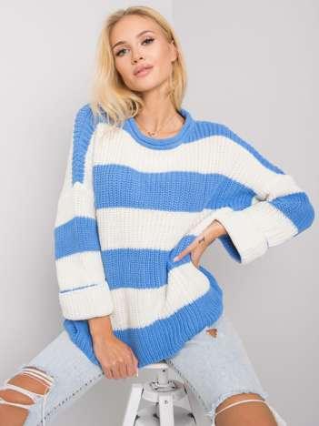 Niebieski sweter w paski Bree