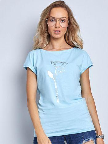 Niebieski t-shirt Quest