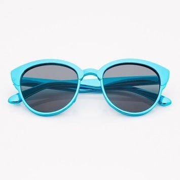Niebieskie Dziecięce Okulary przeciwsłoneczne Z Metalicznym Połyskiem