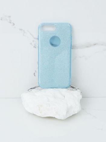 Niebieskie brokatowe etui do iPhone 7G/8G Plus