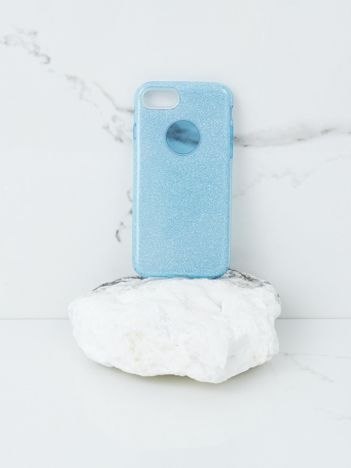 Niebieskie etui brokatowe do iPhone 7G/8G