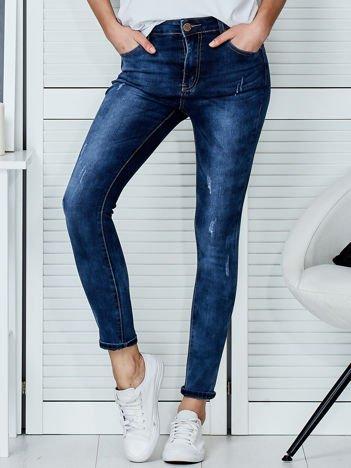 Niebieskie jeansowe spodnie skinny PLUS SIZE