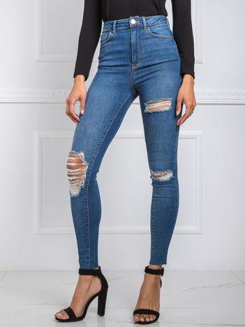 Niebieskie jeansy Joan RUE PARIS