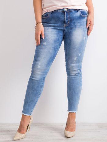 Niebieskie jeansy PLUS SIZE