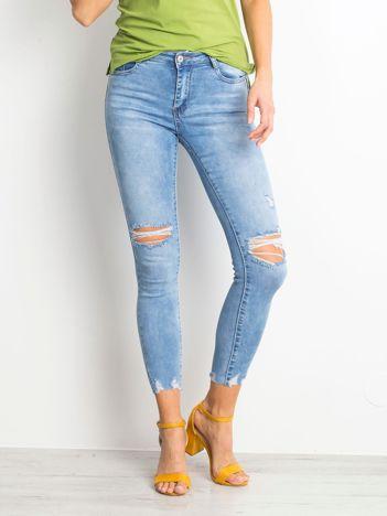 Niebieskie jeansy Withstand