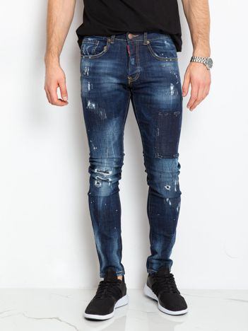 Niebieskie jeansy męskie Arthur