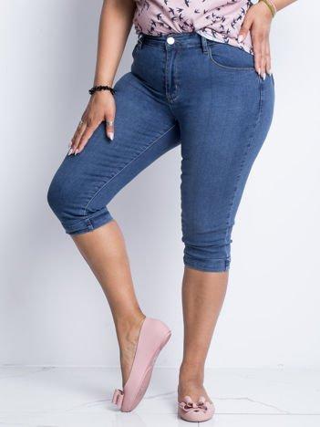 Niebieskie jeansy plus size Anchor