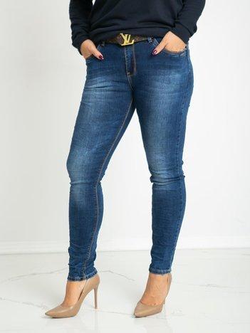 Niebieskie jeansy plus size Delicate