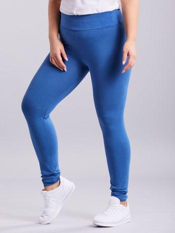 Niebieskie legginsy PLUS SIZE