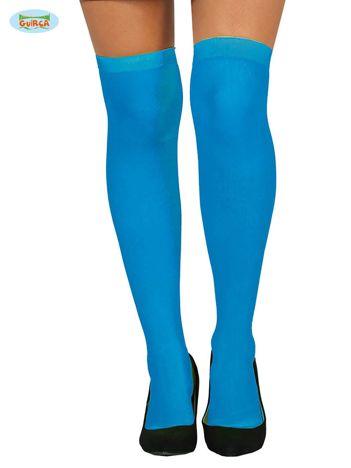 Niebieskie podkolanówki damskie