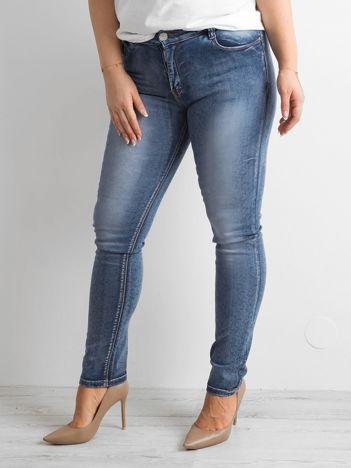 Niebieskie spodnie jeansowe skinny PLUS SIZE