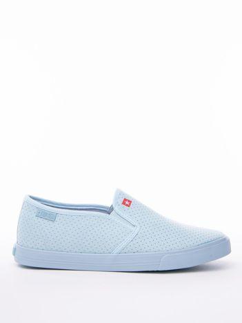 Niebieskie wsuwane ażurowe slip-on BIG STAR