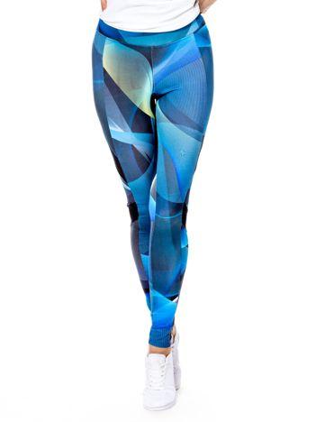 Niebieskie wzorzyste legginsy
