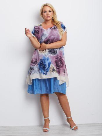 Niebiesko-fioletowa sukienka plus size Affirmation