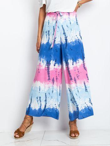 Niebiesko-różowe spodnie SERGIO