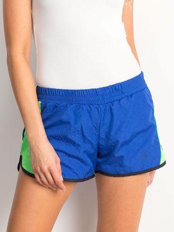 Niebiesko-zielone szorty Sporty