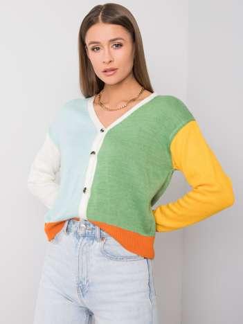 Niebiesko-zielony sweter Romina